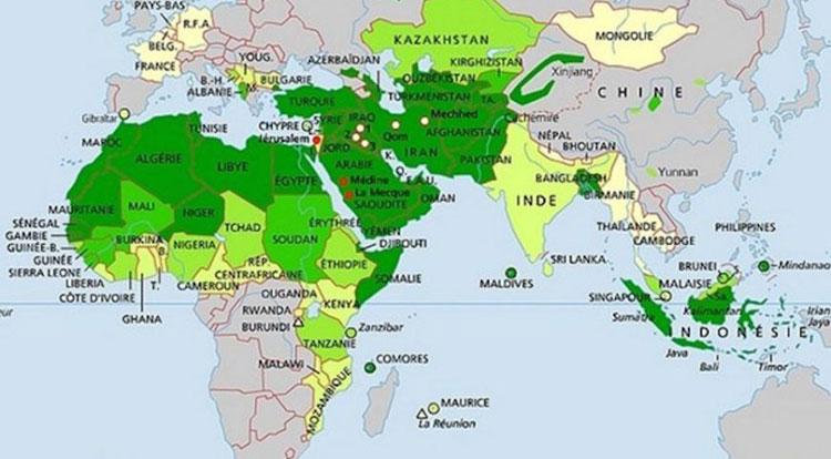 Cartes des pays musulmans